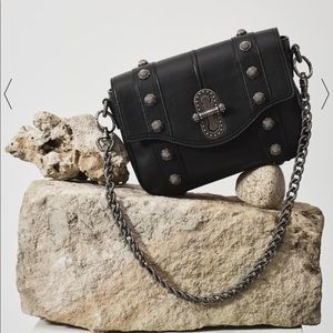 Aje Black Leather Crossbody Hutton Bag